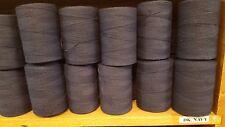 Rug Warp- Lot of 10 (1/2 lb ea.)- Cotton/Polyester Blend- Color Dark Navy