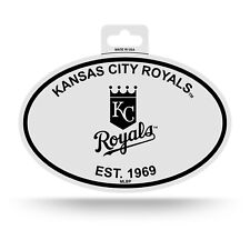 "KANSAS CITY ROYALS BLACK AND WHITE OVAL DECAL STICKER 4""x 6"" EST. 1969 BASEBALL"