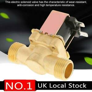 12V Electric Solenoid Valve Water Brass Normally Closed N/C BSP for Water Inlet