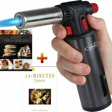 Culinary Torch Lighter, Crème Brûlée Cooking, Chef Professional Flameblu Safety