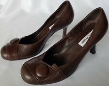 Steve Madden Glyde Brown Leather High Heels 9 Medium Preowned