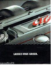 PUBLICITE ADVERTISING 116  1996  Alfa Romeo  laissez- vous griser