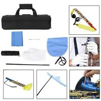 Flute Cleaning Kit Swab, Cleaning Rod, Cloth, Screwdriver, Gloves + Flute Box