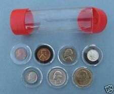 10 Cap-Tube Coin Holders for Model A Direct Fit Air-Tite Capsules - Silver Dime