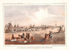 """1860 USPRR """"Fort Union & Distribution of Goods to the Assinniboines"""""""