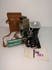 Vintage Photography Lot Sylvania Sun Gun II and Bell & Howell Sunometer and Bulb