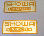 HONDA GB500 GB500TT FRONT FORK SHOWA CAUTION WARNING LABEL DECALS X 2
