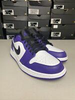 Nike Air Jordan 1 Retro Low Court Purple White 553558-500 Mens Size 9