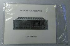 THE CARVER RECEIVER USERS MANUAL