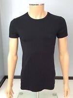 Versace Mens Stretch T Shirt, Black, Size Medium, M, Vgc
