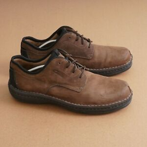 Clarks Mens Oxford Walking Shoes Shoes Size 12 M Brown Nubuck Leather Lace Up
