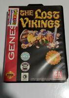 The Lost Vikings  - Sega Genesis Rare Game Tested Manual Box Complete