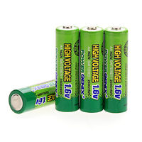 4 x AA 1.6V 2500mAh Ni-Zn NiZn Rechargeable Batteries