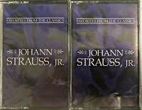 Favorites From The Classics - Johann Strauss, JR. (1993 Cassettes Vol 1 & 2) New