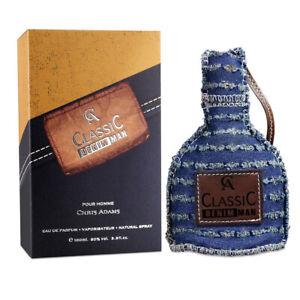 Classic Denim Man Mens Perfume Chris Adams 100ml Eau De Parfum Gents Fragrance