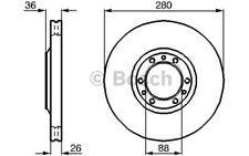 BOSCH Juego de 2 discos freno 280mm ventilado OPEL FRONTERA 0 986 478 854