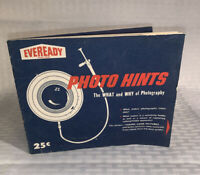 """Vintage 1959 Eveready Batteries Photo Hints Booklet Advertising Piece 5""""x6.5"""""""