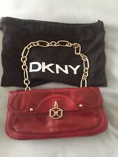 DKNY Red Leather Handbag