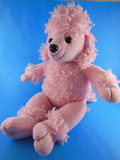 Animaland 2005 NANCO PINK POODLE W BOWS PUPPY DOG PLUSH TOY 17""