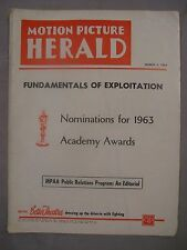 MOTION PICTURE HERALD MAGAZINE MARCH 4 1964 ACADEMY AWARDS HORROR DR LAO