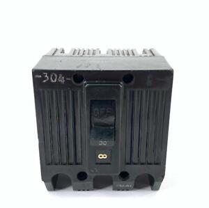GE General Electric TQL32030 Circuit Breaker 30 Amp 3 Pole 240V