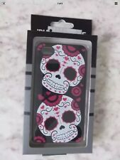 sugar skull NEW iphone 4 / 4s cell phone case cute pink white black hearts