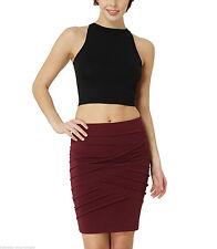 Bauchfreie figurbetonte Damenblusen, - tops & -shirts aus Baumwollmischung