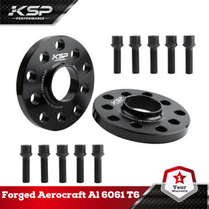 KSP 2pc 15mm Wheel Spacers 5x100 5x112 | + 10 Lug Bolts | Fits Audi & Volkswagen