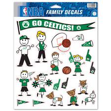 Boston Celtics Family Decal Sticker Set