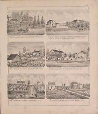 Marshall County Illinois 1873 Atlasplat map old Genealogy history P53