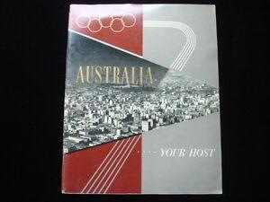 1956 Australian Olympic Publication EX