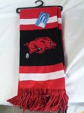 "NWT NCAA 2012 TEAM STRIPE ACRYLIC SCARF 64""x7"" - ARKANSAS RAZORBACKS"