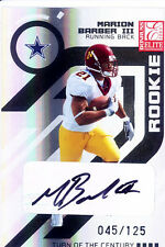 marion barber rc rookie draft auto cowboys minnesota gophers elite college #/125
