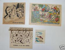 1431/ CARTES FEUILLES PUBLICITAIRES ANCIENNES CHAUSSURES / SEMELLES