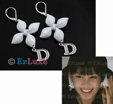 K-POP Boa Tiara designer white Girly Flower D Earrings leaf leaves