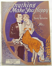 1927 Sheet Music Anything to Make You Happy Barbelle Buddy Valentine Antique