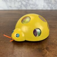 VINTAGE TOY 1960's-1970's YELLOW LADY BUG ROLLS W/ FRICTION MOTOR Child Guidence