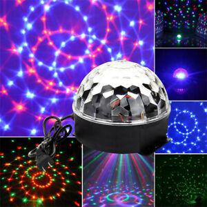 Remote Control LED Stage Light Magic HQ Crystal Ball RGB Rotating Disco Party DJ