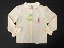 NWT Gymboree Girls Sweet Romance Ivory Formal Button Shirt Size L (5 Years)