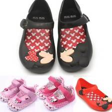 Kids Boys Girls Minnie Summer Beach Sandals Flat Casual Jelly Shoes Infant Size