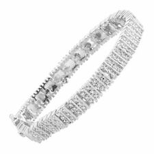 Finecraft KB17314CWSCX1 Square Link Tennis Bracelet With Diamonds