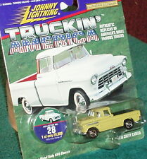 JOHNNY LIGHTNING 1955 CHEVY CAMEO PICK UP TRUCK w COLLECTOR TOKEN  1/64