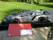 Lamborghini Veneno METALLURO silber MR Collection LAMBO012A 1:18 OVP