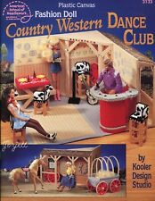 Country Western Dance Club ~ fits Barbie doll, plastic canvas pattern book NEW