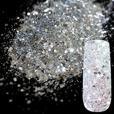Mix Silver Glitter Powder Sequins Dust Mix Match Acrylic Nails Art Material N276