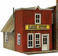 BANTA 2121 HO HON3 CLARKES OUTPOST Model Railroad Building Wood Kit FREE SHIP