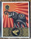 Shepard Fairey Obey Elephant 2009 Artist Print (+ Israel/Palestine on back)