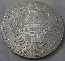 AUSTRIA, 1780 1 Thaler Coin MARIA THERESIA .833 SILVER BU RESTRIKE.