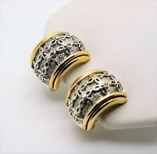 Simply Unique & chic  Design Style hoop stud Two tone Clip Fashion Earrings 7-64