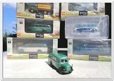 Brekina Modellautos, 6 Stück, Setra, Steyr, Saurer, 1:87, in OVP, Konvolut